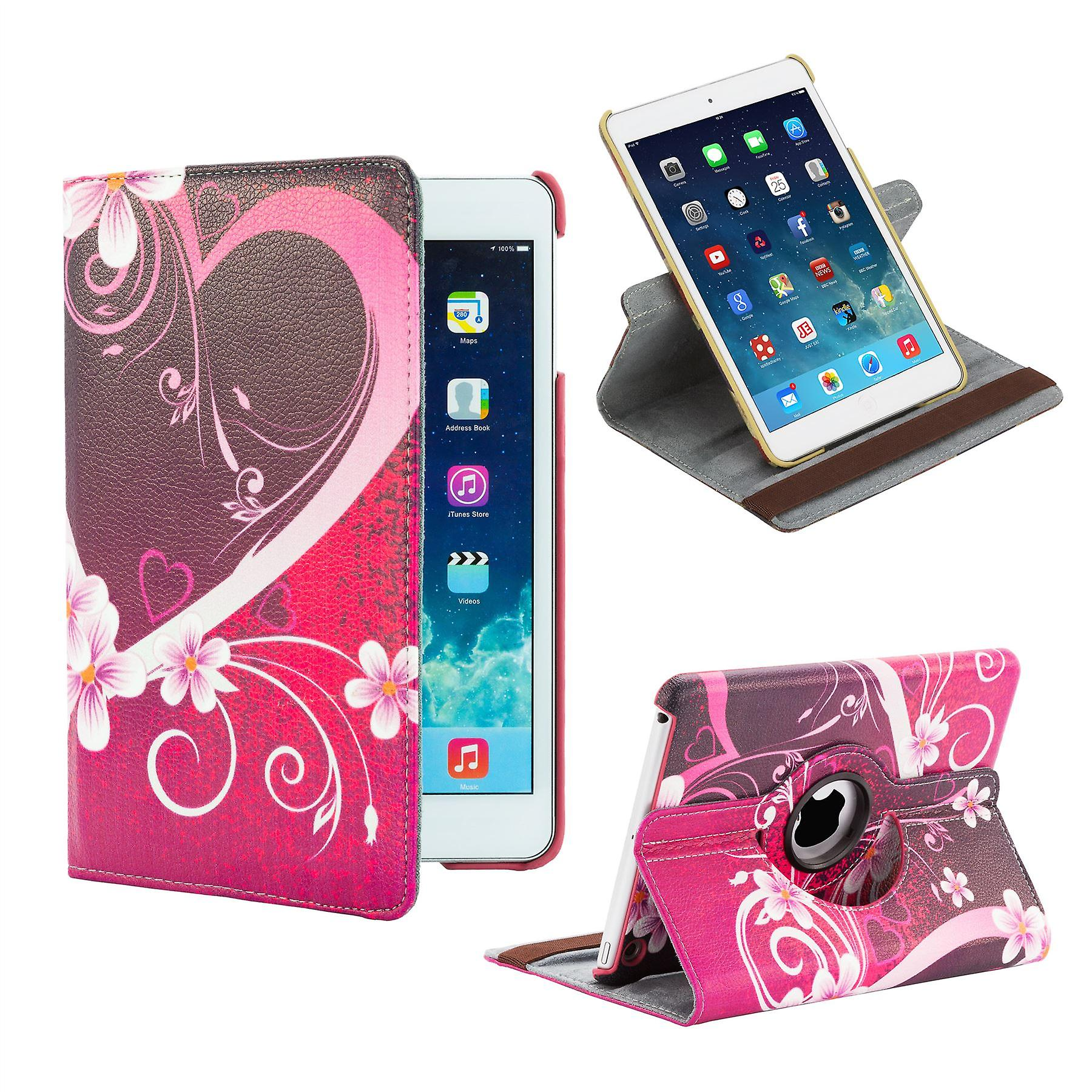 360 degree design case cover for iPad 2/3/4 - Love Heart