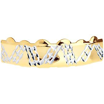 Gold Grillz - One size fits all - Diamond Cut Plate IV - Top