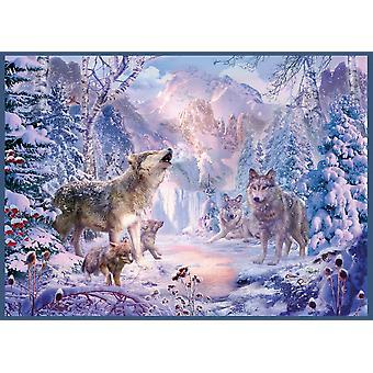 Sneeuw landschap Wolves Poster Print by Jan Patrick