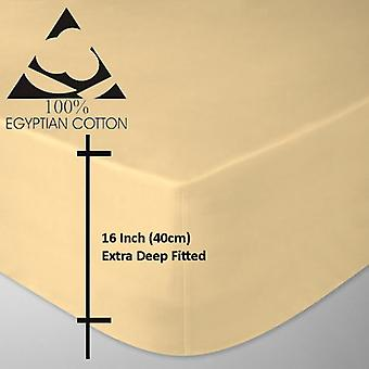Extra Deep 16 inch 200 Thread Egyptian Cotton Fitted Bed Sheets