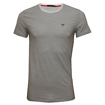 Guess t-shirt girocollo righe sottili In cotone Stretch, nero/bianco