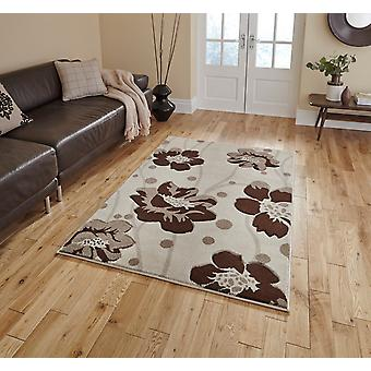 Verona 216 Beige Brown  Rectangle Rugs Modern Rugs