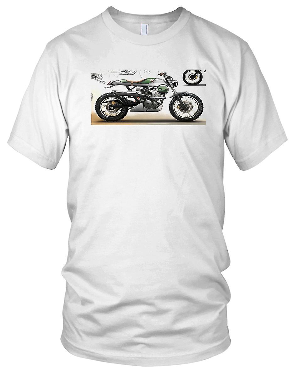 Offroad Cafe Racer Cool Bike Ladies T Shirt