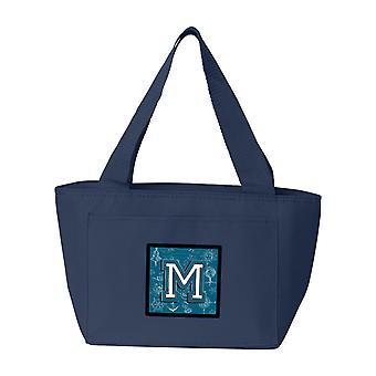Lettre M mer Doodles Alphabet Initial sac à Lunch