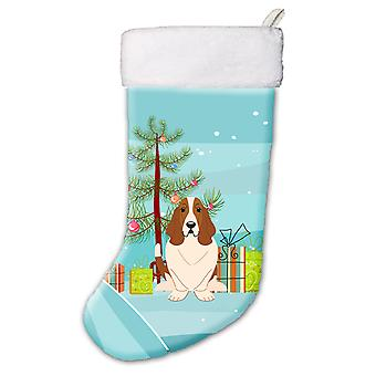 Merry Christmas Tree Basset Hound Christmas Stocking