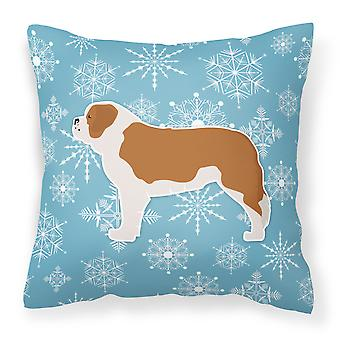 Dekorative Kissen Winter Schneeflocke Saint Bernard Fabric