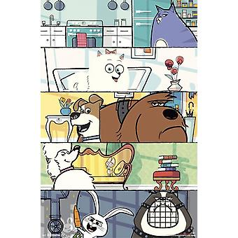 Geheime Leben der Haustiere - Raster-Poster-Plakat-Druck