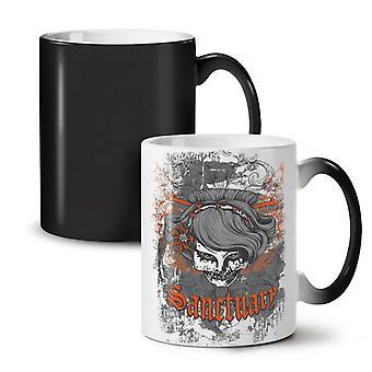 Orange Death Skull NEW Black Colour Changing Tea Coffee Ceramic Mug 11 oz | Wellcoda