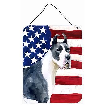 Duitse Dog harlekijn patriottische muur of deur hangen Prints