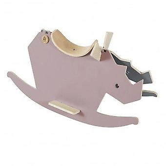 Sebra - wooden rockinghorse - i rock - vintage rose/grey