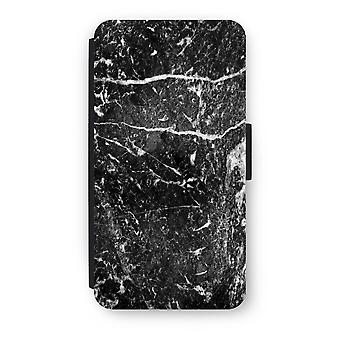 iPod Touch 6 Flip Case - Black marble