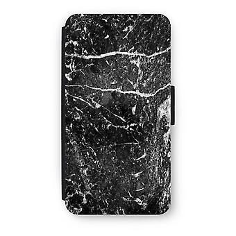 iPod タッチ 6 フリップ ケース - 黒大理石