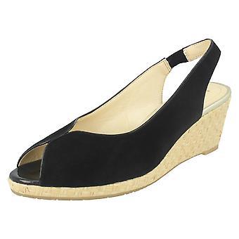 Mesdames Van Dal cuir Wedge Sandal avec détail tissé Avalon