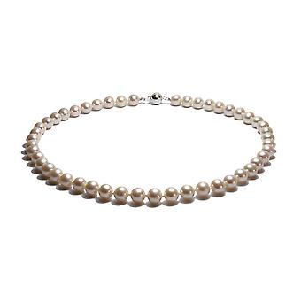 Ras du Cou Femme Necklace Pearls of White and Silver Freshwater Culture 925 739