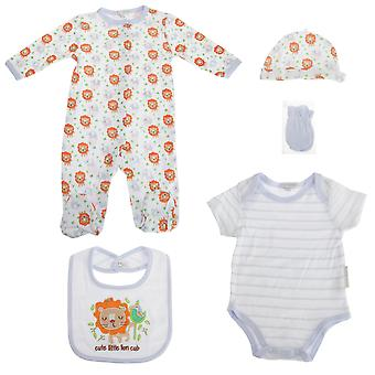 Nursery Time Baby 5 Piece Gift Set With Jungle Lion Design