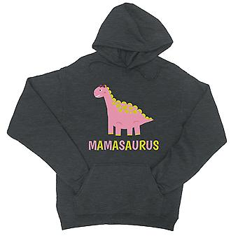 Mamasaurus 恐竜ユニセックス クールなグレーのフリースのパーカー