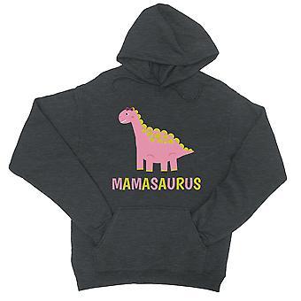 Mamasaurus Dino Unisex kule grå Fleece Hettegenser