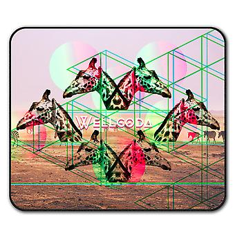Giraffe Triangle  Non-Slip Mouse Mat Pad 24cm x 20cm | Wellcoda