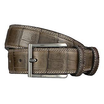 OTTO KERN belts men's belts leather belt reptile optic taupe/grey 4481