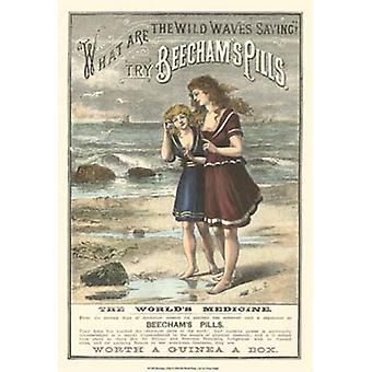Beechams piller affisch Skriv av Vision studio (13 x 19)