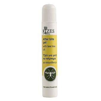 Rizes afterbite gel, soothing mosquito bites instantly.