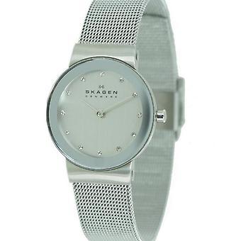 Skagen Damen Uhr Armbanduhr Slimline Edelstahl 358SSSD