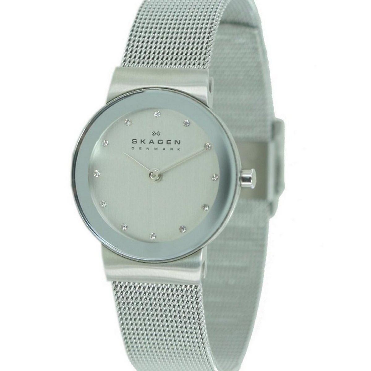 Skagen ladies watch wristwatch slimline stainless steel 358SSSD