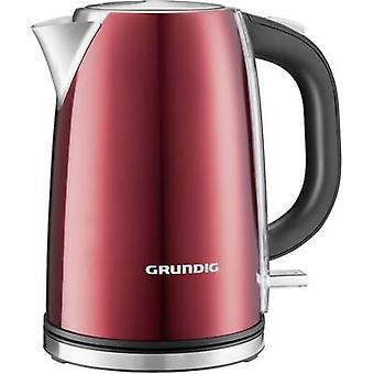 Grundig WK 6330 Kettle cordless Red (metallic), Stainless steel