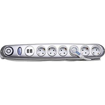 Kopp 120920015 Surge protection socket strip 6x Silver PG connector 1 pc(s)
