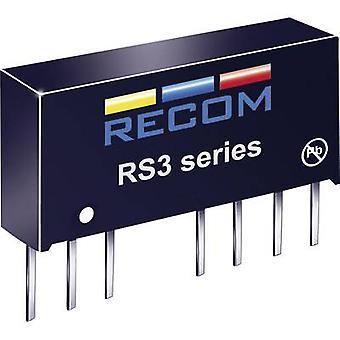 RECOM RS3-0505D RS3-0505D 3W DC/DC omvandlare RS3-0505D 4,5-9 V DC ± 5 V DC ± 300 mA 3 W