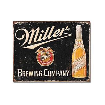 Miller Brewing Co. resistido muestra del Metal