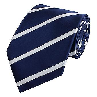 Gravata gravata gravata 8cm azul Fabio Farini branco listrado