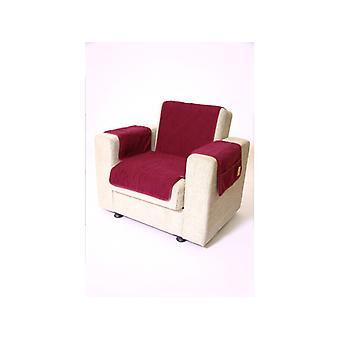 Podłokietniki - i fotel wygaszacz zestaw z 2 kieszenie MALI kolor: bordeaux wełny