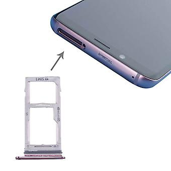 For Samsung Galaxy S9 G960 / S9 plus G965 SIM cards holder SIM tray SD card purple