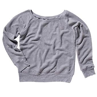 Bella Womens Canvas Triblend Slouchy Wideneck Sweatshirt