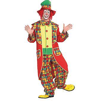Clown mannen kostuum circus jester dwaas carnaval