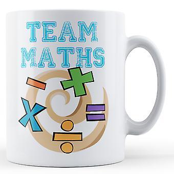 Team matematik - trykte krus