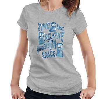 Doctor Who Warped Tardis Women's T-Shirt