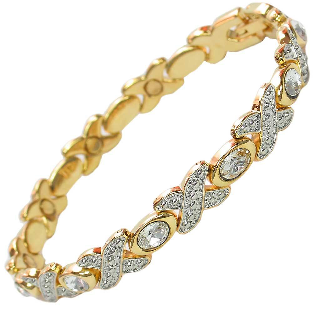 MPS® TARIM Magnetic Bracelet with Clear Crystals + FREE Links Removal Tool