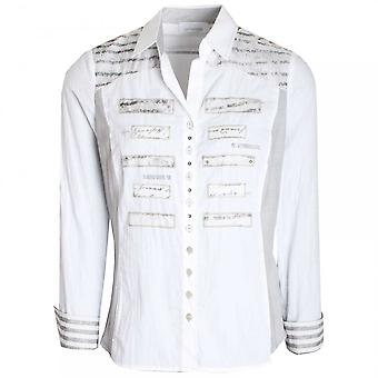 Just White Fancy Button Fitted Shirt