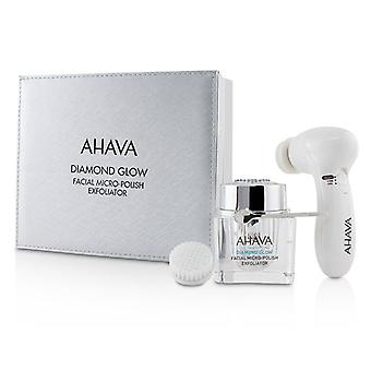 Ahava Diamond Glow Facial Micro-polish Exfoliator (1x Micro-exfoliating Cream 50ml 1x Cleansing Device 1x Brush Head) - -