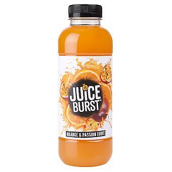 Succo ha scoppiato l'arancio e il succo di frutto della passione