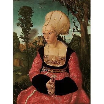 Anna Putsch, Erste Ehefrau von Lucas Cranach der Ältere, 59x45cm