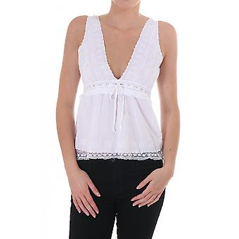 Day Womens Pearl Beaded Cotton Strap Top