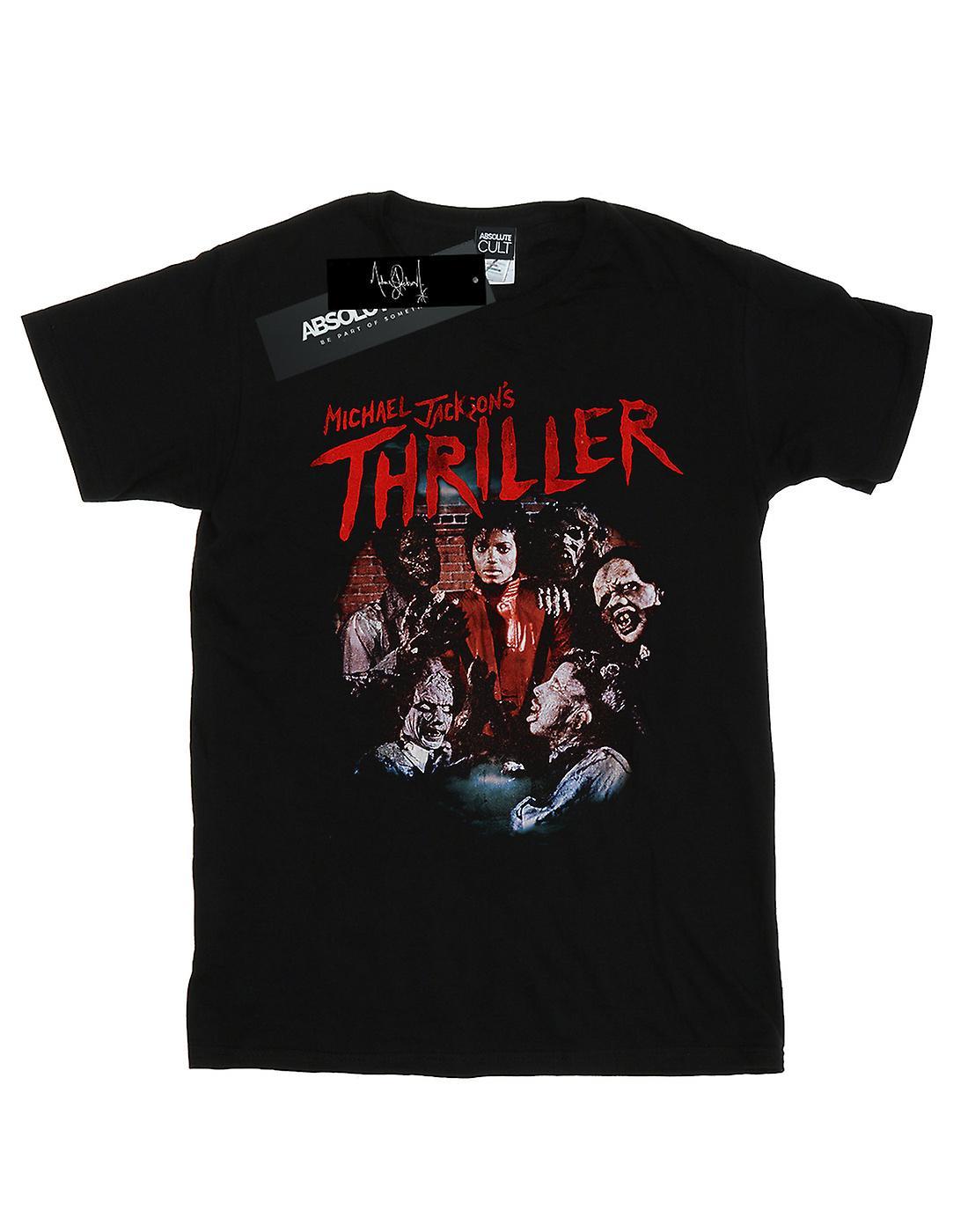 Michael Jackson Women's Thriller Ghouls Boyfriend Fit T-Shirt