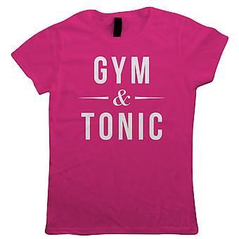 Gym & Tonic, Womens T Shirt - Leisure Wear Fitness Workout Gin Running Gift Her