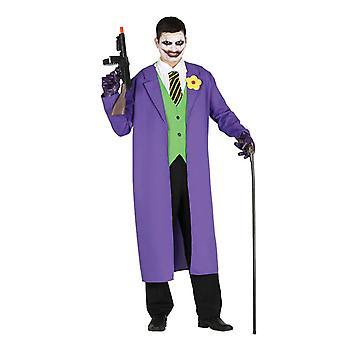 Mens Joker Fancy Dress kostym skurk Halloween