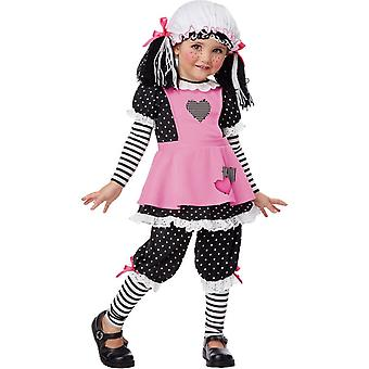 Toddler Pink Rag Doll Costume