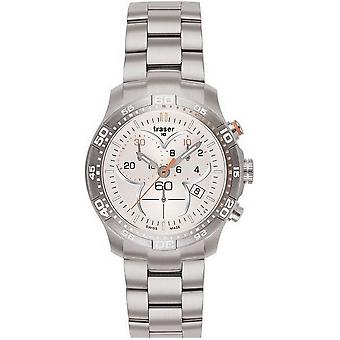 Traser H3 Ladytime silver chronograph ladies watch T7392. 25 H. G1A. 08 100279