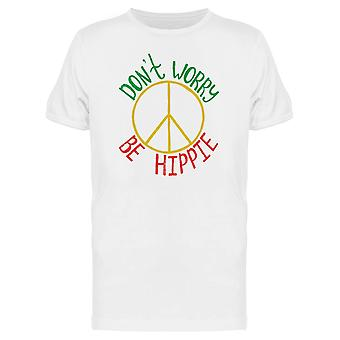 Dont Worry Be Hippie Graphic Tee uomini-immagine di Shutterstock